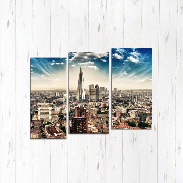 Модульная картина Город ветра