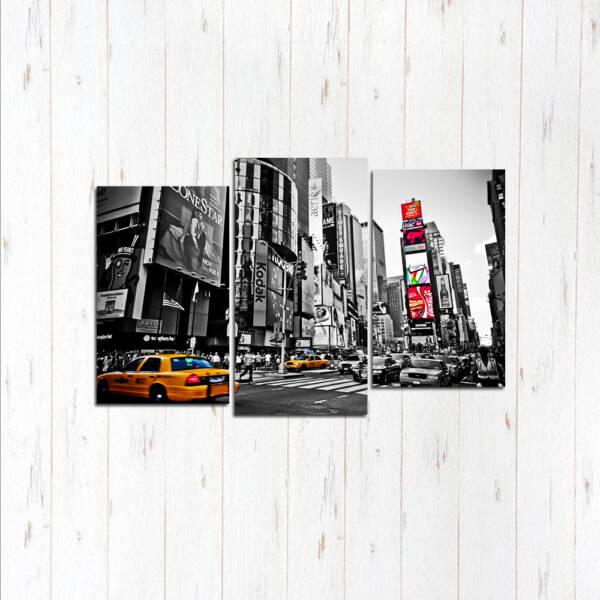 Модульная картина Чёрно белый Нью-Йорк