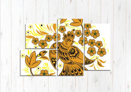 Модульная картина Золотая жар-птица