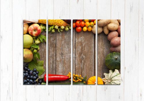 Модульная картина Овощной стол