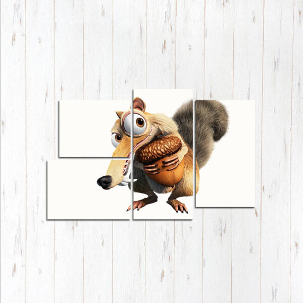 Модульная картина Белка и орех