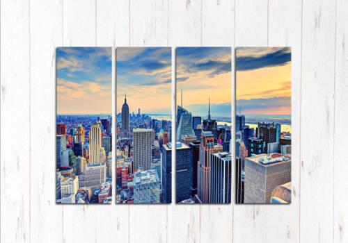 Модульная картина Нью-Йорка Закат
