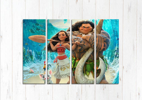 Модульная картина Мауи и Моана
