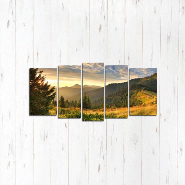 Модульная картина Долина гор