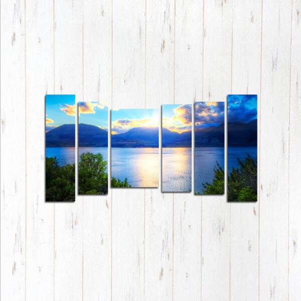 Модульная картина Сияние озера