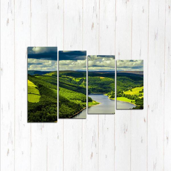 Модульная картина Зеленый мир