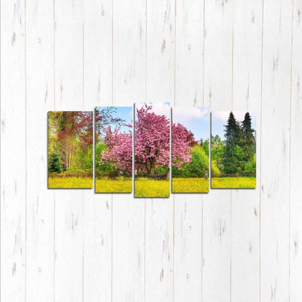 Модульная картина Цветущее дерево