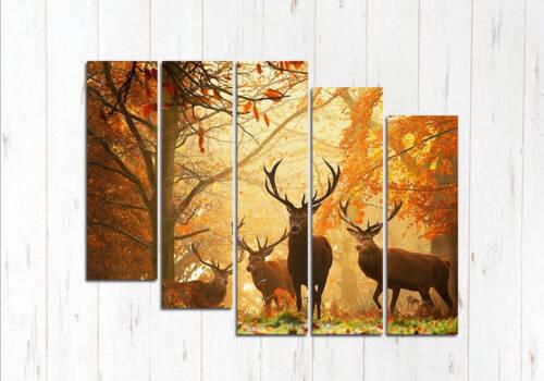 Модульная картина Удивительный лес