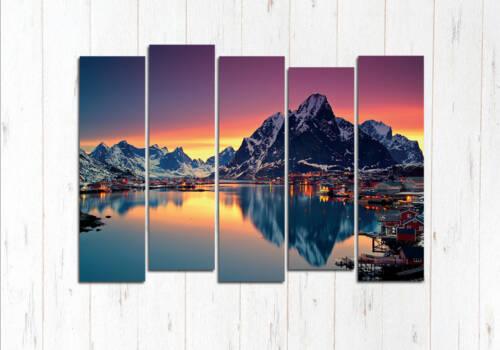 Модульная картина Альпийское чудо