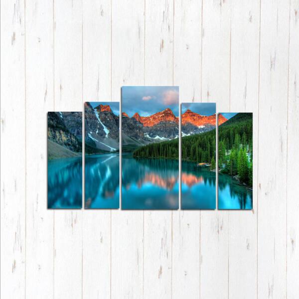 Модульная картина Озеро свежести