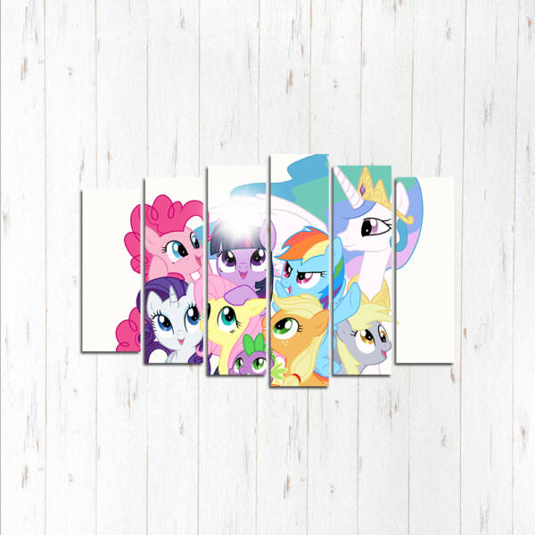 Модульная картина Пони вместе