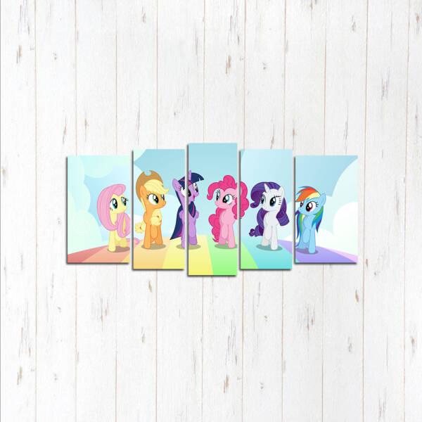Модульная картина Пони все вместе