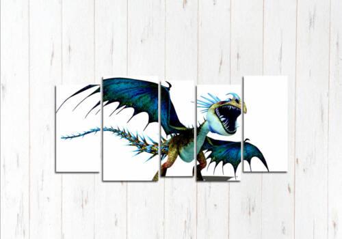 Модульная картина Ужасный дракон
