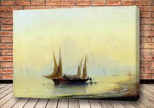 Картина Баржи у морского берега