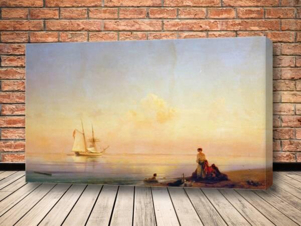 Картина Берег моря. Штиль.