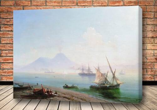 Картина Берег Неаполя. Вид Везувия