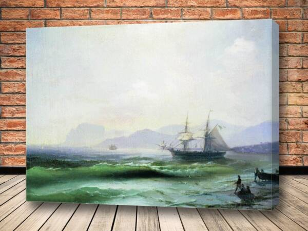 Картина Беспокойное море 1877
