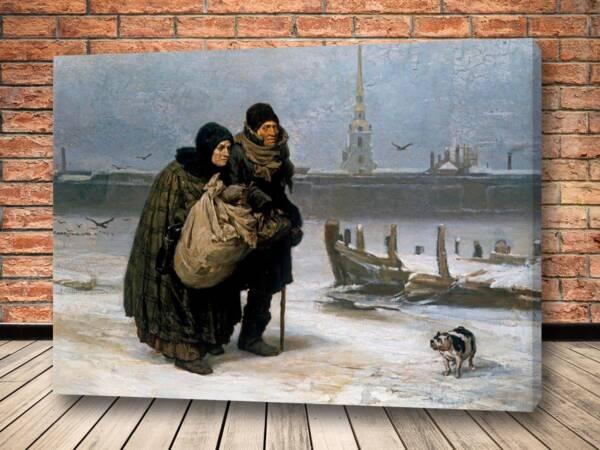 Картина С квартиры на квартиру Васнецов
