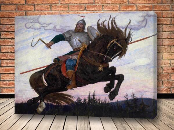 Картина Богатырь 1920 Васнецова