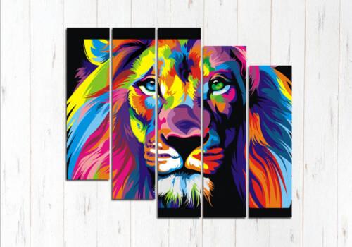 Гордый лев Модульная картина