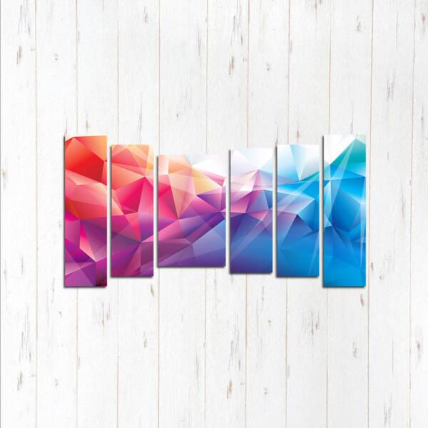 Модульная картина Смешение цветов