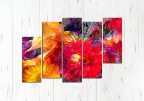 Модульная картина Акварельные цветы