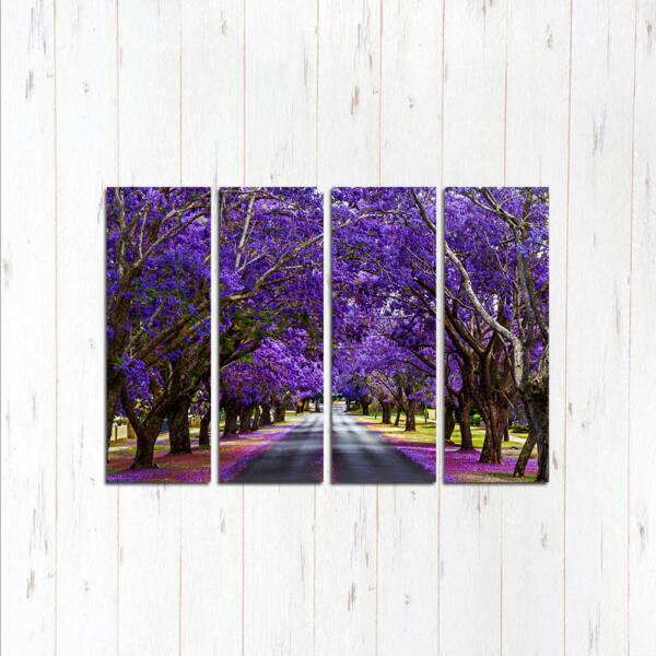 Модульная картина Фиолетовые деревья