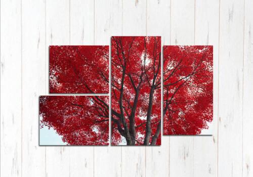 Модульная картина цветущие деревья