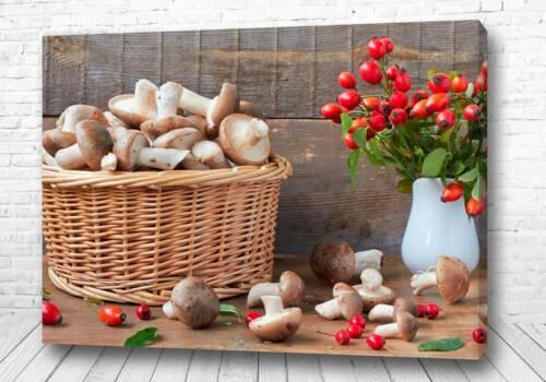 Постер Осенний урожай грибов