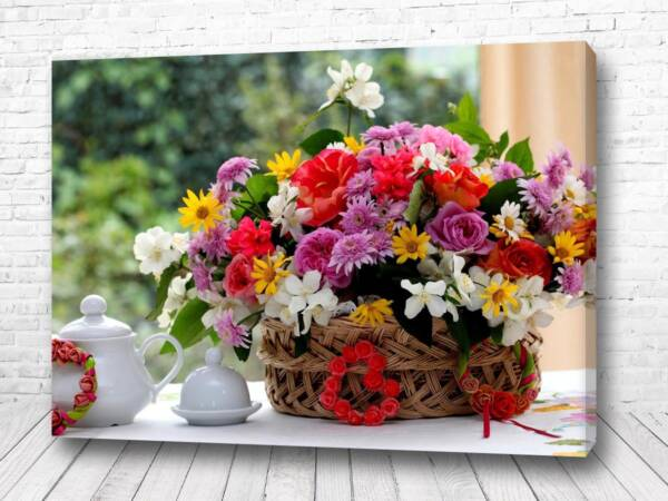 Постер Корзина полевых цветов