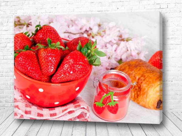 Постер Клубничный завтрак