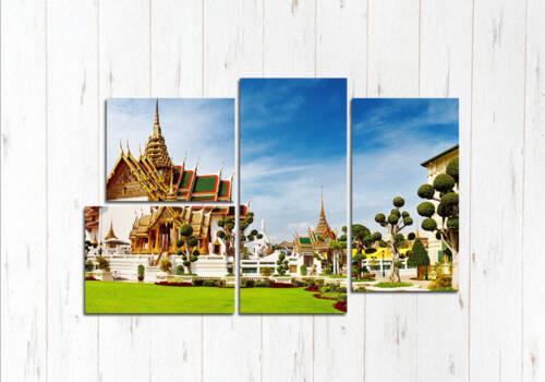 Модульная картина Храмы Бангкока