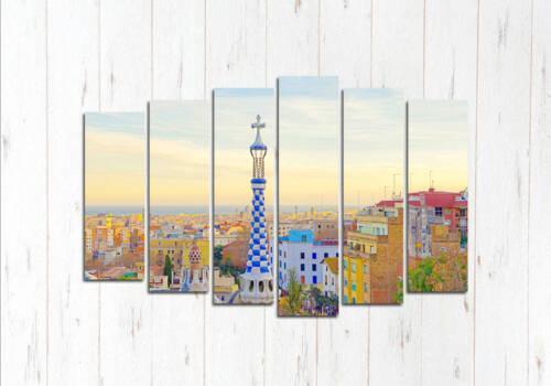 Модульная картина Барселона сверху