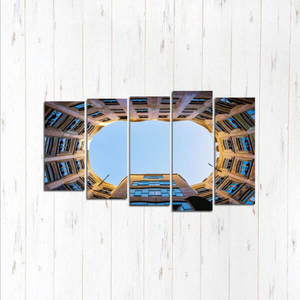 Модульная картина Взгляд в небо