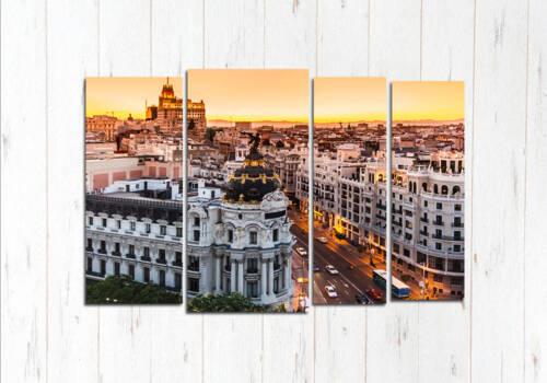 Модульная картина Барселона вечер