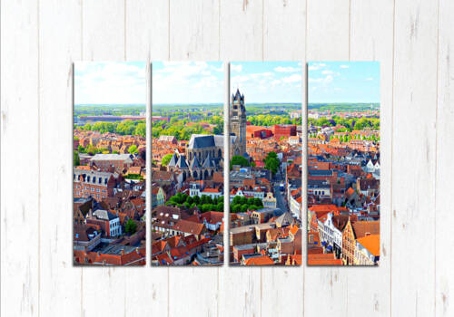 Модульная картина Брюгге с высоты