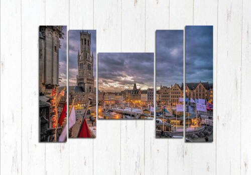 Модульная картина Брюгге вечером