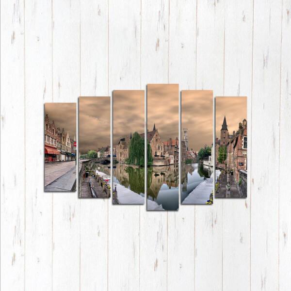 Модульная картина Брюгге вид на город