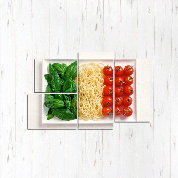 Модульная картина Тарелка овощей