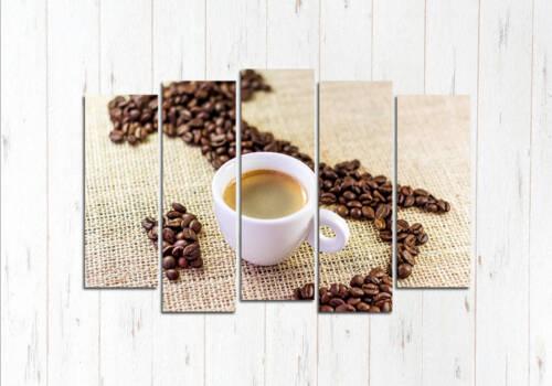 Модульная картина Карта из кофе