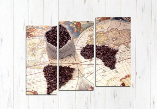 Модульная картина Зёрна на кофе