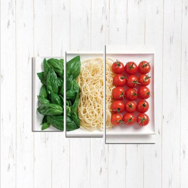 Модульная картина Итальянская тарелка