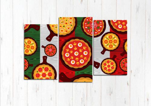 Модульная картина Арт пицца