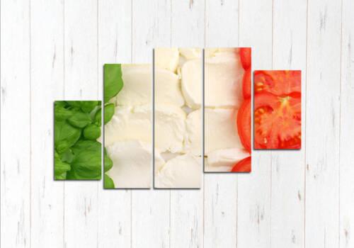 Модульная картина Овощи флаг