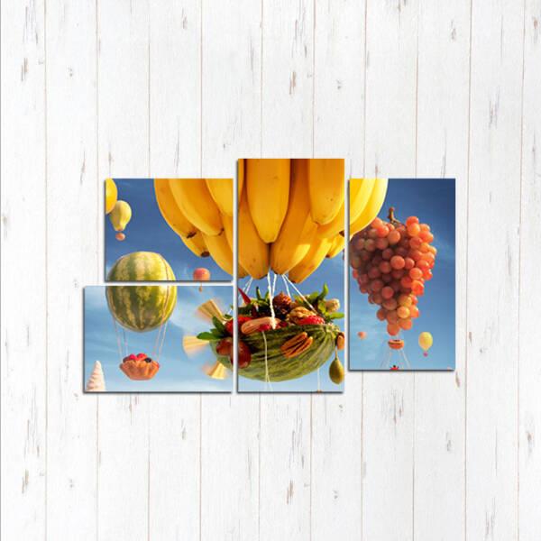 Модульная картина Летучие фрукты