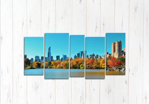 Модульная картина Нью-Йорк природа