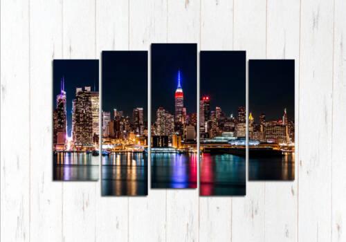 Модульная картина Ночь в Нью-Йорке