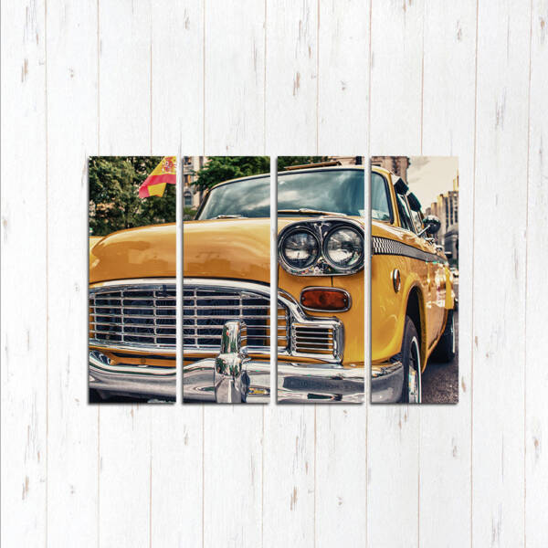 Модульная картина Жёлтое такси