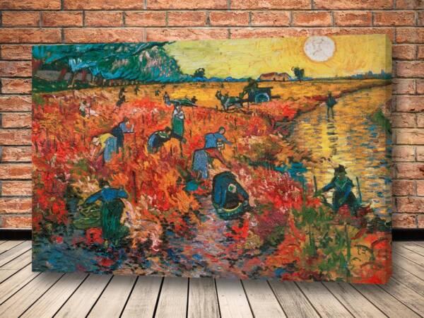 Картина Красные виноградники в Арле
