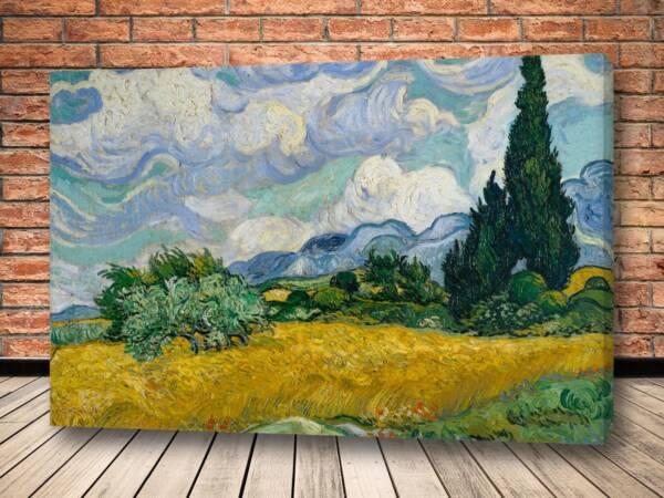 Картина Пшеничное поле с кипарисами